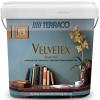 Декоративное Бархатное Покрытие Terraco Velvetex 1кг c Перламутровым Блеском / Террако Вельветекс
