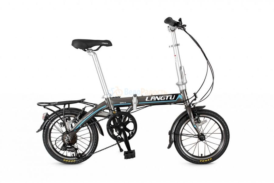 """Велосипед складной Langtu KP 017 16"""" (2019) Цвет: серый"""