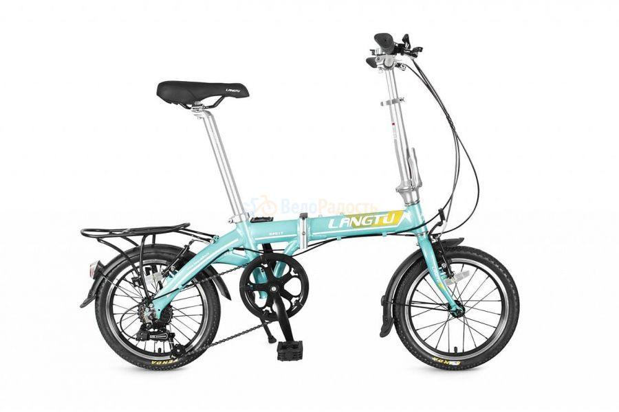 """Велосипед складной Langtu KP 017 16"""" (2019) Цвет: бирюзовый"""