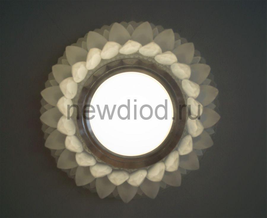 Точечный Светильник OREOL Crystal 7067F МАТОВОЕ СТЕКЛО 98/60mm под лампу MR16 Белый