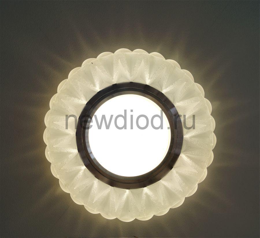 Точечный Светильник OREOL Crystal 7651F МАТОВОЕ СТЕКЛО 95/60mm под лампу MR16 Белый