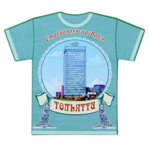 Магнит в форме футболки «Тольятти»