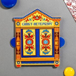 Магнит раздвижной в форме окошка «Санкт-Петербург»