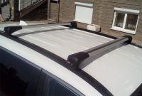 Багажник на крышу Toyota RAV4 2019-..., Lux Bridge, крыловидные дуги (серебристый цвет)