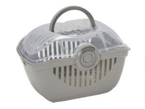Переноска-корзинка Moderna средняя серая для больших и средних питомцев до 5кг 39х29х25см для кошек и собак
