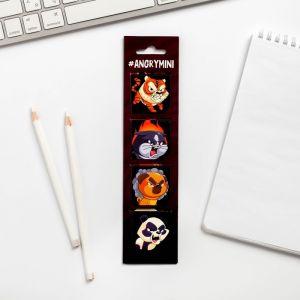 """Магнитные закладки для книг в открытке """"Опасные закладки"""", 4 шт   4717425"""