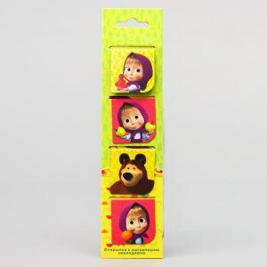 """Закладки магнитные для книг на открытке """"Радуга"""", Маша и Медведь"""