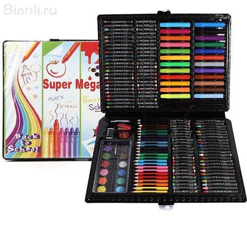 Набор для рисования в пластиковом чемоданчике Super Mega Art Set, 168 предметов.