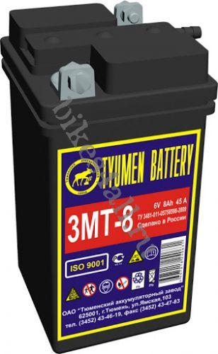 Аккумулятор 3 МТ-8 6В 8А/Ч