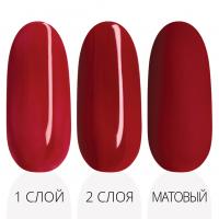 Лак'ю гель-лак серия ruby red R 07 - три варианта красная палитра