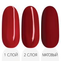 Лак'ю гель-лак серия ruby red R 08 - три варианта красная палитра