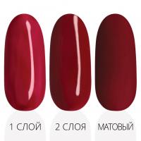 Лак'ю гель-лак серия ruby red R 13 - три варианта красная палитра