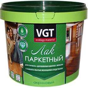 Лак Паркетный VGT 0.9кг Акриловый без Запаха Полуматовый, Глянцевый для Внутренних Работ / ВГТ Лак Паркетный