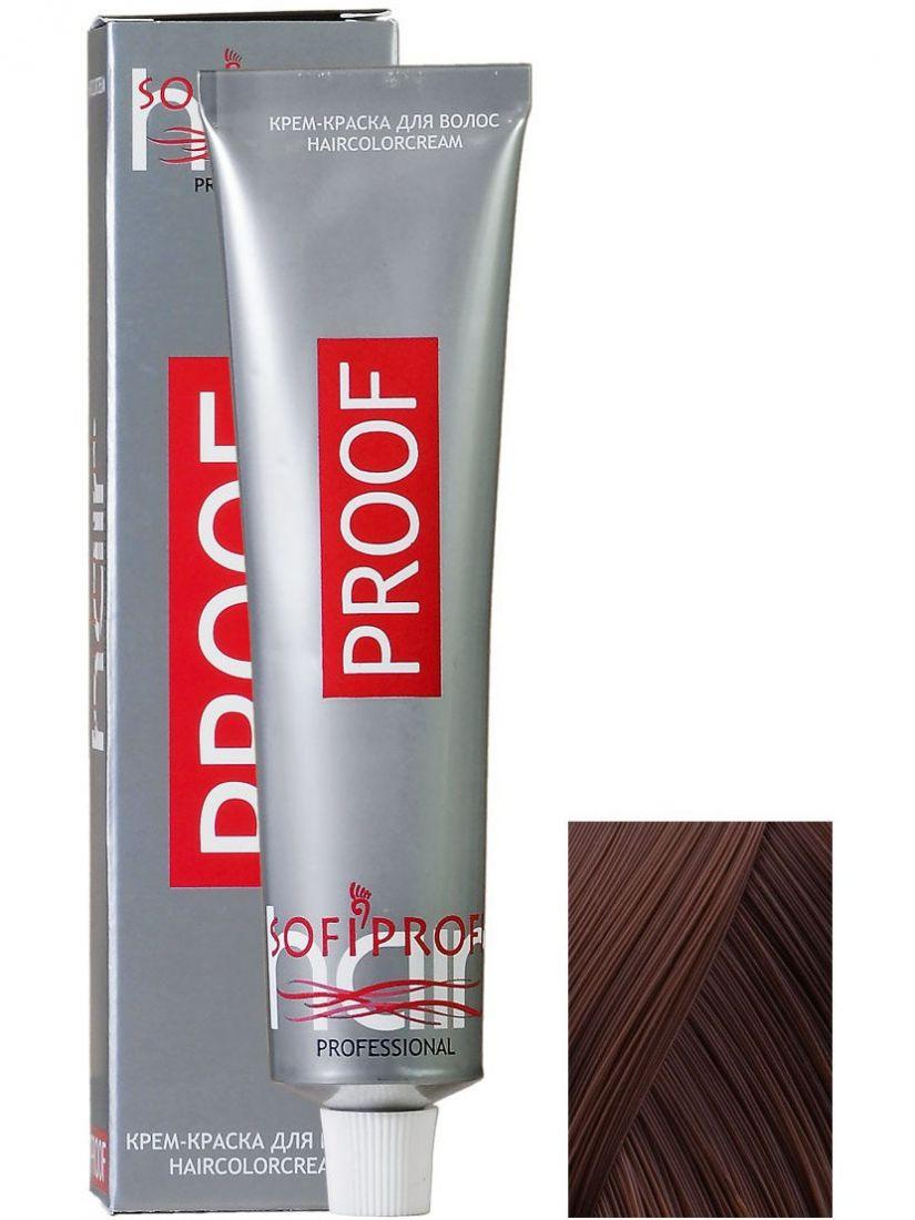 Крем-краска для волос PROOF 6.00 тёмно-русый интенсивный, 60 мл