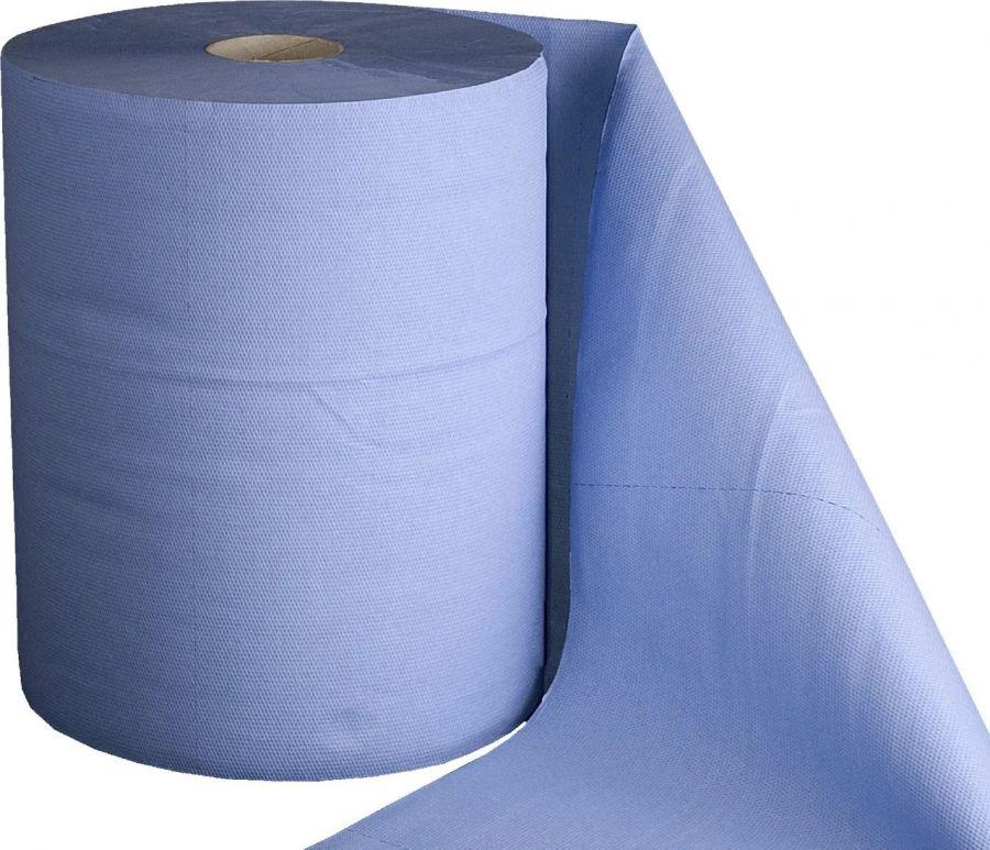 JetaPro Двухслойные очищающие бумажные салфетки, синие, 36х38, рулон 1000 шт.