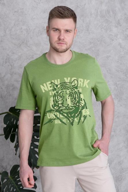 Мужская футболка 1302-91, кулирка