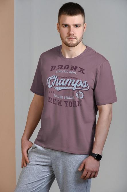 Мужская футболка 1302-32, кулирка