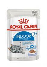 Royal Canin Indoor Sterilised 7+ Влажный корм для стареющих кошек, постоянно живущих в помещении (кусочки в желе), 85 гр