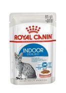 Royal Canin Indoor Sterilised  Влажный корм для  взрослых кошек, постоянно живущих в помещении (кусочки в соусе), 85 гр