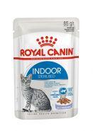 Royal Canin Indoor Sterilised  Влажный корм для  взрослых кошек, постоянно живущих в помещении (кусочки в желе), 85 гр