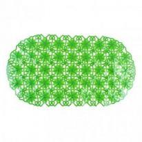 Антискользящий коврик с присосками для ванной Ромашки, зелёный