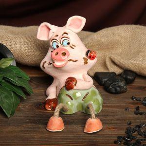 """Копилка """"Жабуня свинка"""", глазурь, разноцветная, 17,5 см"""