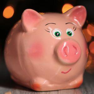 """Копилка """"Поросёнок Пупсик"""", глянец, розовый цвет, 10 см"""