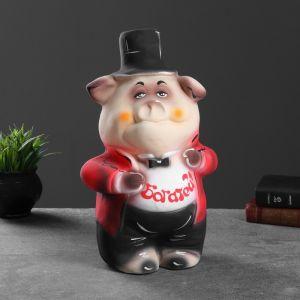 """Копилка """"Свинка во фраке"""" 36см   1072038"""