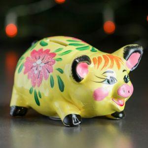 """Копилка """"Свинка малая"""", глянец, разноцветный, 8 см, микс"""