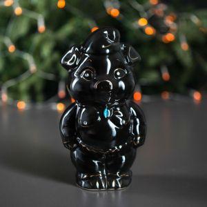 """Копилка """"Свинка Малыш"""", глянец, чёрный цвет, 25 см, микс"""