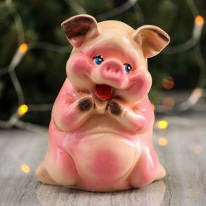 "Копилка ""Свинка мини"", розовый цвет, 18,5 см"