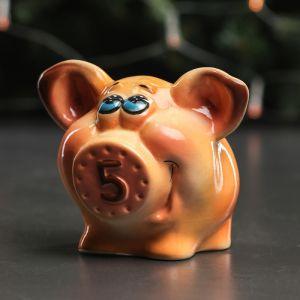 """Копилка """"Свинка Персик"""", глазурь, разноцветная, 11,5 см, микс"""