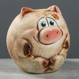 """Копилка """"Свинка Шарик"""", керамика, разноцветная, 18,5 см, микс"""