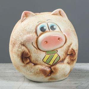 """Копилка """"Свинка Шарик"""" малая, шамот, микс   3792100"""