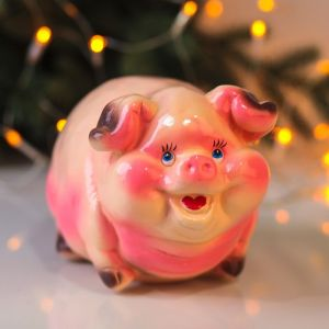 """Копилка """"Свинка"""", глянец, розовый цвет, 15 см"""