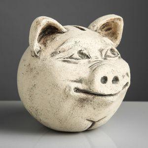 "Копилка ""Свинка"", бежевый цвет, 14 см"