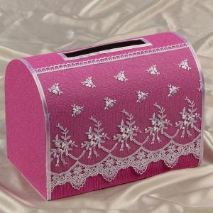 """Коробка для денег """"Николь"""", ярко-розовая, неразборная 3041927"""