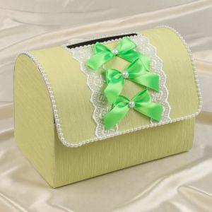 Коробка для денег «Аллюр», светло-зелёная, разборная 3183815