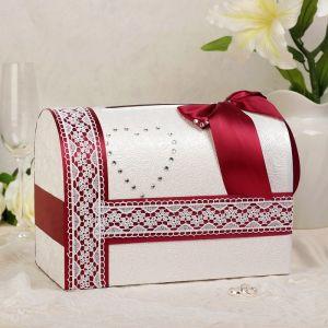 Коробка для денег «Альбина», бордо, неразборная 3183820