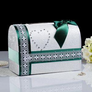 Коробка для денег «Альбина», зелёная, неразборная 3183822
