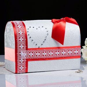 Коробка для денег «Альбина», красная, неразборная 3183824