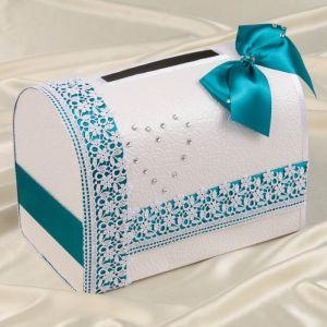 Коробка для денег «Альбина», морская волна, неразборная 3183825