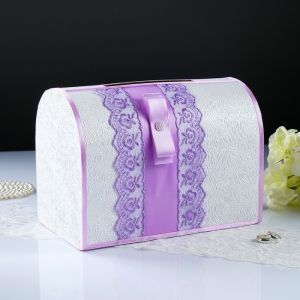 Коробка для денег «Аля», сирень, неразборная 3183841