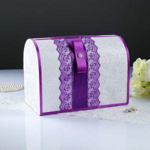 Коробка для денег «Аля», фиолетовая, неразборная 3183842