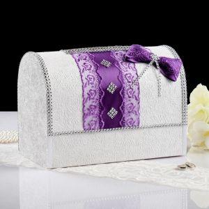 Коробка для денег «Анис», бело-фиолетовая, неразборная 3183844