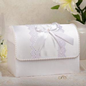 Коробка для денег «Анна», атлас, белая, неразборная 3183846