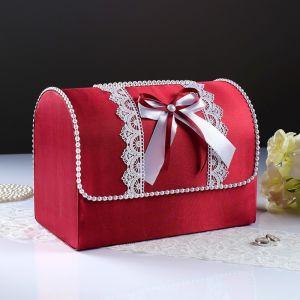Коробка для денег «Анна», атлас, бордо, неразборная 3183847