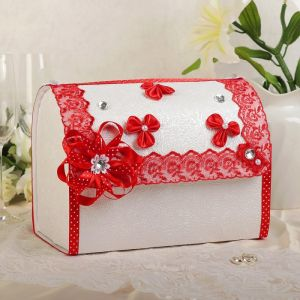 Коробка для денег «Анта», бело-красная, разборная 3042001