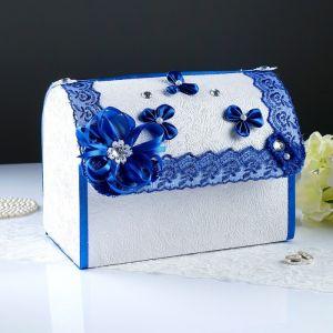 Коробка для денег «Анта», бело-синяя, разборная 3041999