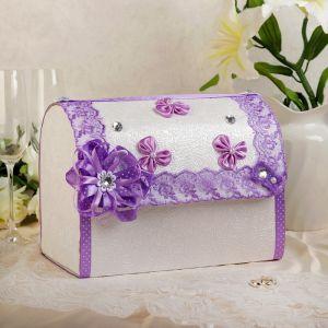 Коробка для денег «Анта», бело-сиреневая, разборная 3041998